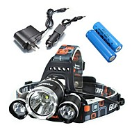 Headlamps / Bike Lights LED 4 Mode 5000 Lumens Waterproof / Rechargeable / Impact Resistant Cree XM-L T6 18650Camping/Hiking/Caving /