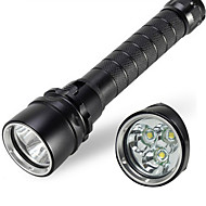 LED-Zaklampen / Handzaklampen (Waterdicht) - LED 1 Mode 4000/1800 Lumens 18650 Cree XM-L T6 / Cree XM-L U2 Batterij - Multifunctioneel