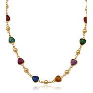 Modische Halsketten Halsketten / Ketten / Kragen Schmuck Hochzeit / Party / Alltag / Normal Modisch vergoldet / Emaille Goldfarben 1 Stück