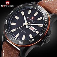 Men's Genuine Leather Japan Movement Fashion Wrist Watch Luminouse Hand Military Watches(Assorted Colors)
