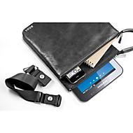 """CDN """"Venn"""" Solid Color Multi-functional Genuine Leather Shoulder Bag for Tablet"""