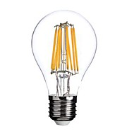 ON E26/E27 8W 8 COB 800 LM Warm White A60(A19) edison Vintage LED Filament Bulbs AC 220-240 V
