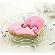 Valentine's Love Heart to Heart Jigsaw Shape Cookie Cutter, Stainless Steel