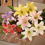 1pcs kunstmatige lelie pu bloemen 5 koppen voor de bruiloft partij home decor
