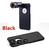 8X Telephoto Lens / Fisheye Lens / Wide Angle Add-on Macro Lens Kit with Back Case for iPhone 6(Assorted Colors)