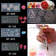 4 Style Acrylic Flowers 3D Nail Art Mold DIY Decoration Fashion