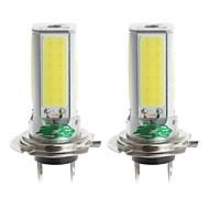 zweihnder H7 24w 2300lm 6000-6500K 4xcob LED weißes Licht Lampe für Auto Nebelscheinwerfer (12-24V, 2 Stück)