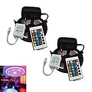 télécommande jiawen® 2pcs 5m 300x3528 cms rgb bande LED et 24key et 2a eu alimentation (AC110-240V)