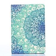 blå og hvid porcelæn mønster pu læder full body taske med stativ til iPad mini 1/2/3