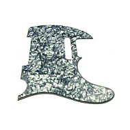 3Ply Pickguard for Tele Style Guitar, Pearl Gray