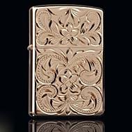 zorro or sculpté riche fleurs coquille de cuivre métallique et d'huile style plus léger aléatoire