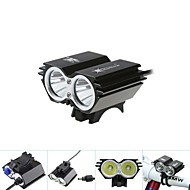 Cykellyktor LED Glödlampor Framlykta till cykel cykel glödljus LED Cree XM-L T6 Cykelsport Vattentät 18650 5000 Lumen BatteriCykling Jakt