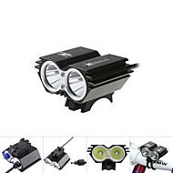 Luci bici Luci bici / Bike Front Light / luci incandescenza bici / Lampadine LED LED Impermeabili 5000 Lumens Batteria Cree XM-L T6