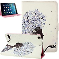 Black Fairy Girl Inlaid Shiny Glitter Diamond PU Flip Protective Case Cover with Stand for iPad mini