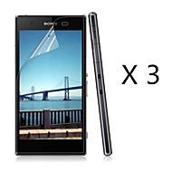(3 st) högupplösta skärmskydd till Sony Xperia z1 kompakt m51w