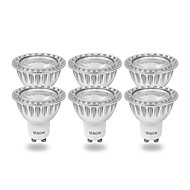 6 pcs IENON® GU10 3W COB 240-270 LM Warm White MR16 LED Spotlight AC 100-240 V