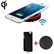 Qi Standard Wireless Charger Receiver Back Cover + Wireless Transmitter for iPhone 6 (Assorted Colors)
