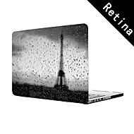 """lluvia en París Diseño de torre Eiffel de cuerpo completo caja de plástico de protección para 13 """"/ 15"""", MacBook Pro con pantalla de retina"""