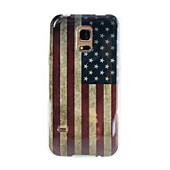 For Samsung Galaxy etui Mønster Etui Bagcover Etui Flag TPU for Samsung S5 Mini