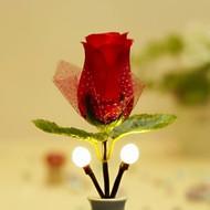 rose rouge de style blanc chaud conduit de lumière de nuit (100V-240V)