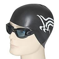 youyou anti-derrapante cabelo proteção de orelha proteção natação cap impermeável unisex