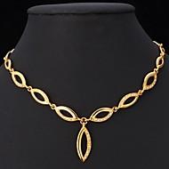 Damen Halsketten Ketten Aleación Strass vergoldet Imitation Diamant Modisch Golden Schmuck Hochzeit Party Alltag Normal 1 Stück