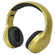 komc s8 fast on-ear hörlurar med mikrofon för mobiltelefon