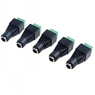 5.5 x 2.1mm CCTV dc eluttag adapter (5-pack)