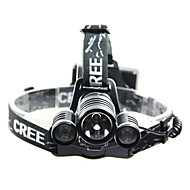 Headlamps LED 3 Mode 240-350 Lumens Waterproof / Rechargeable Others / Cree T6 18650 Camping/Hiking/Caving / Cycling / Climbing / Outdoor