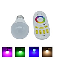 1pcs E27 6 W 8 X SMD 5730 480 LM RGB Dimmable/Remote-Controlled/Decorative Corn Bulbs AC 85-265 V