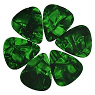 Medium 0.71mm Guitar Picks Plectrums Celluloid Pearl Green 100Pcs-Pack