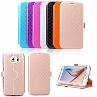 KARZEA™ Diamond Pattern TPU and PU Leather Full Body Case with Stand for Samsung Galaxy S6 (Assorted Colors)