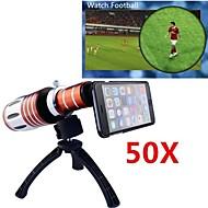 Objectif de Longue Focale - 10X et Supérieur - Pomme iPhone 6 Plus - Rouge ( Objectifs avec Etui/Objectifs avec Support )