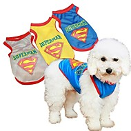 Blue/Yellow/Gray Cosplay Cotton T-Shirt For Dogs