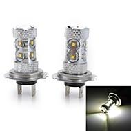 50W H4 H11 H1 H7 H3 Smart LED-lampe 10 Højeffekts-LED 2000-3000 lm Kold hvid Jævnstrøm 12 Jævnstrøm 24 V 2 stk.
