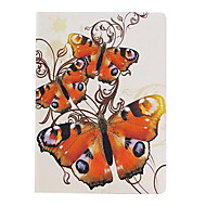 Three Butterflies Pattern PU Leather Full Body Case  for iPad Air