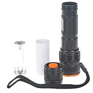 romisen rc-c8 3-Modo CREE lente convexa-q5 wc linterna led (210lm, 1 * 18650/2 * CR123A / 3 * AAA, negro)