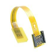 gsm CDMA זכר ערכת כרטיס ה- SIM UIM סטנדרטי 10 סנטימטרי מאריך כבל FPC שטוח רך סיומת נקבה