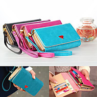 Luxury Cell Phone Wallet Handbag Purse Case with Card Holder for Samsung Galaxy S6/S5/S4/S3 iPhone 5/5S/6/6 Plus
