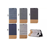 Canvas Lines Hit Color No Buckle PU Case with Stand for Samsung Galaxy S6 Edge(Assorted Color)