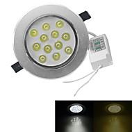 jiawen® 12W 1080-1200lm 3000-3200k / 6000-6500k lämmin valkoinen / valkoinen valo led receseed valot (ac 100-240V)