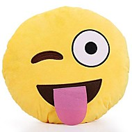 13 Inch Emoji Smiley Emoticon Yellow Round Cushion Pillow Stuffed Plush Soft Toy