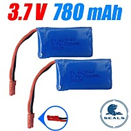 3pcs/pack 3.7v 780mAh Lipo JST WLtoys battery for v626 v636 v686 v686g Quadcopter Drone Original Batteries
