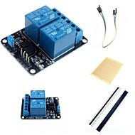 2 kanals elektrisk relæmodul relæ udvidelseskort med optokobler og tilbehør til Arduino