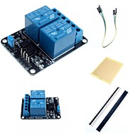 2 kanals elektrisk relé modul relé utvidelseskort med optocoupler og tilbehør for Arduino