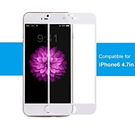 100% acoperire, margine de protecție margine, pro + premium geam ecran protector pentru iphone6 4.7inch alb