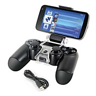 smart phone beugel opslaghouder + oplaadkabel voor PS4 controller gamepad