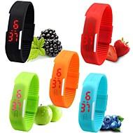 Herre Dame Unisex Sportsur Armbåndsur Casual Ur Digital Watch Digital LED Silikone Bånd Slik Sort Hvid Rød Pink