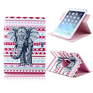 Fashion Elephant Pattern PU Leather Full Body Case with Card Slot and Stand for Apple iPad 2/3/4