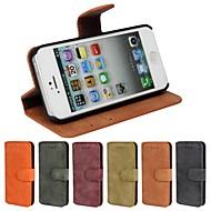 Käyttötarkoitus iPhone 8 iPhone 8 Plus iPhone 5 kotelo kotelot kuoret Korttikotelo Tuella Flip Himmeä Kokonaan peittävä Etui Yhtenäinen
